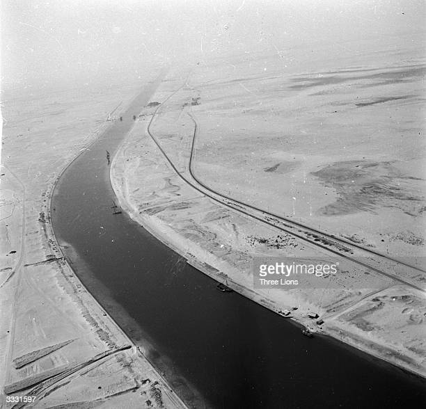 The Suez Canal connecting Port Said with the Gulf of Suez.