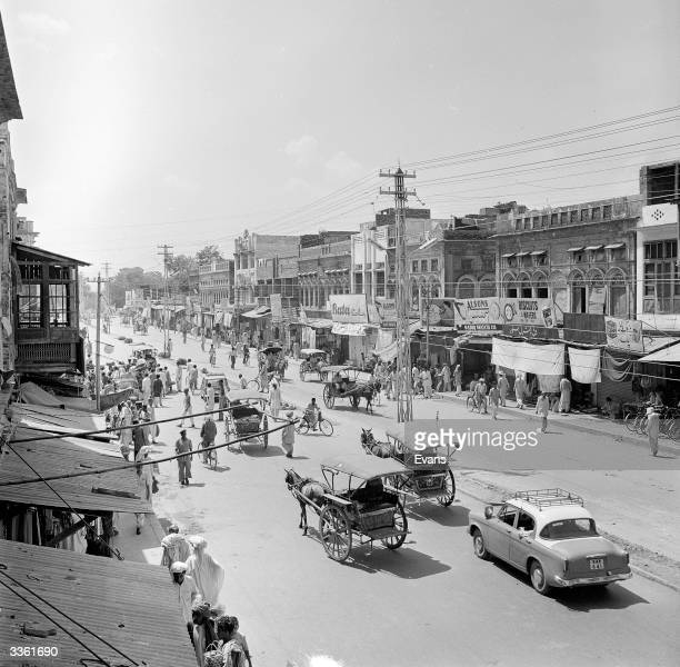 A street in Rawalpindi Punjab province northern Pakistan