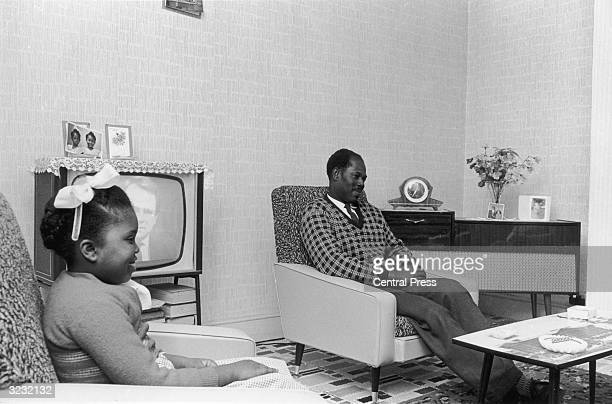 West Indian family at home in Birmingham.