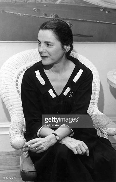 American author and critic Mary McCarthy . She wrote the 1963 novel, 'The Group' and was married to author and critic Edmund Wilson.