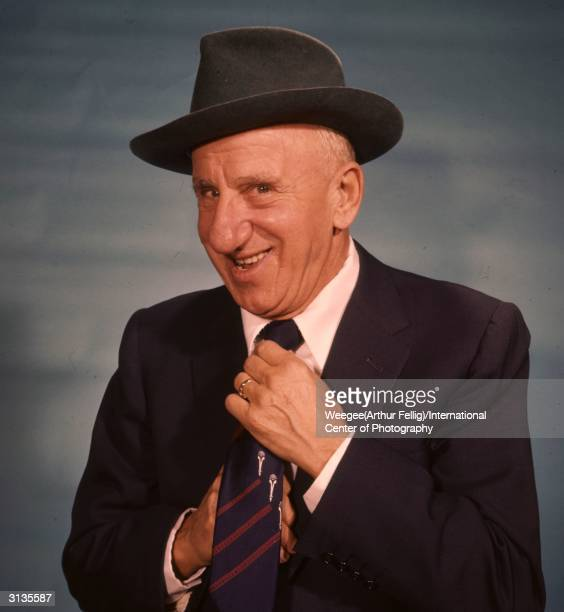 American comic actor and singer Jimmy Durante known as Schnozzola for his famously large nose Photo by Weegee/International Center of...
