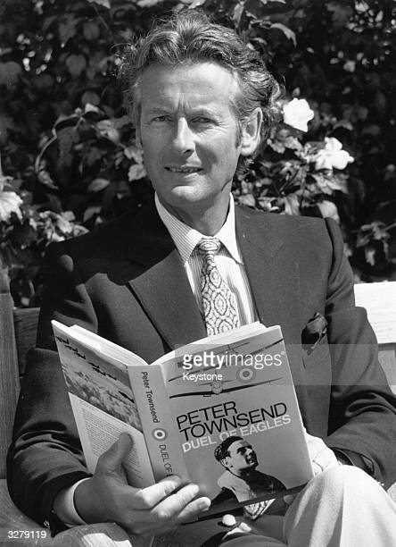 Battle of Britain Squadron Leader and fighter pilot, Group Captain Peter Townsend, in London for the publication of his book 'Duel of Eagles', seen...