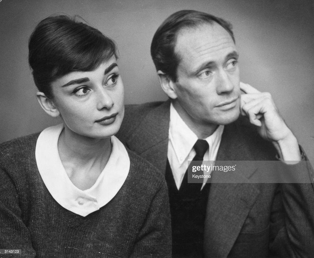 Film star couple, Audrey Hepburn (1929 - 1993) and her husband Mel Ferrer.
