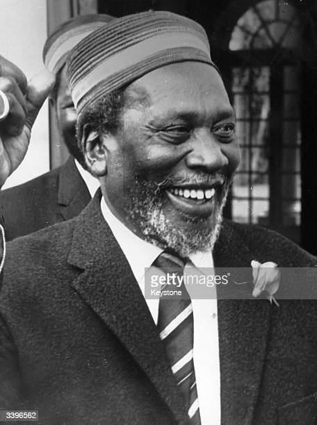 Kenyan statesman and first president of Kenya Jomo Kenyatta