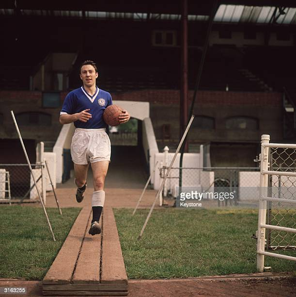 Striker Jimmy Greaves of Chelsea FC and England takes to the pitch for a training session at Stamford Bridge