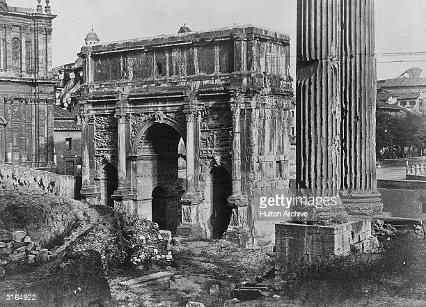 The arch in Rome built by Emperor Lucius Septimus Severus to celebrate his military conquests