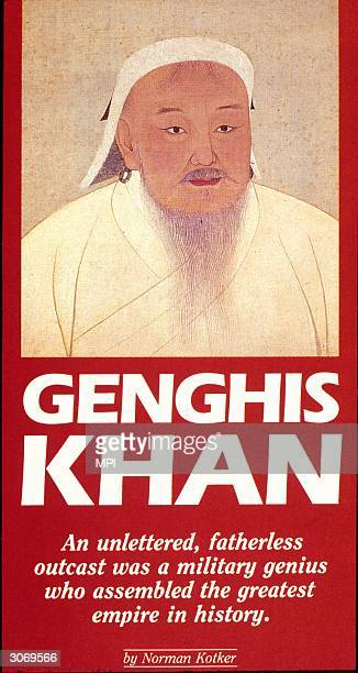 The cover of a biography of the Mongolian warlord Genghis Khan by Norman Kotker