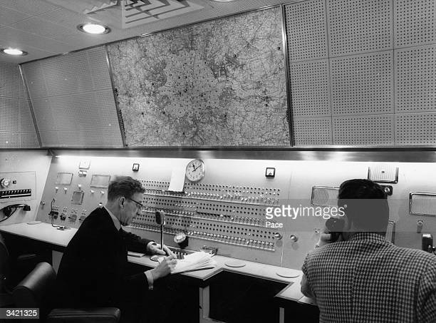 The newlydesigned radio control room inside the national headquarters of the Automobile Association at Fanum House Leicester Square London The radio...