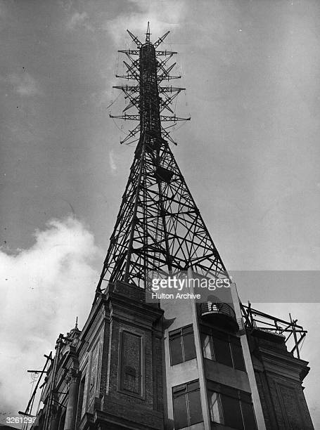 The television masts at Alexandra Palace London