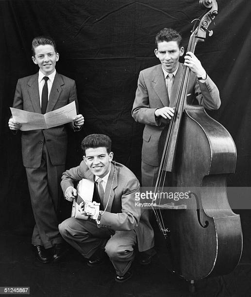 Circa 1960 Three young rock 'n' rolling brothers from left to right Denis Michael and Tony of the King family from Hornchurch They have topped the...