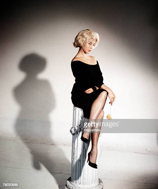 Circa 1960s A picture of the Eurasian actress France Nuyen doing an impression of the American bombshell Marilyn Monroe