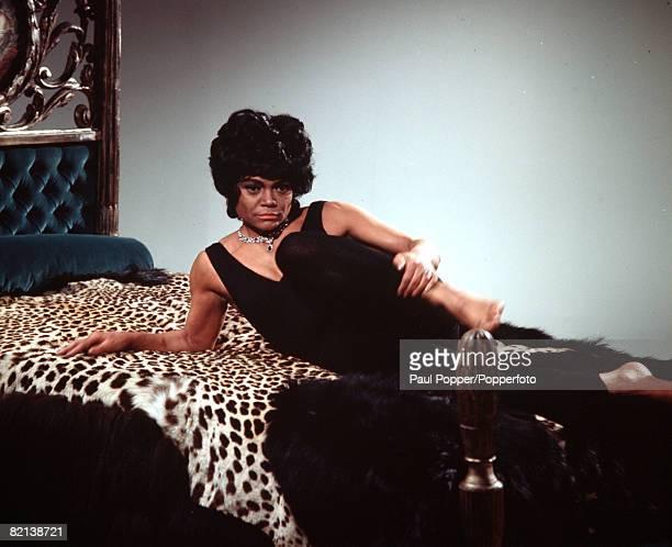 Circa 1960's American singer and actress Eartha Kitt