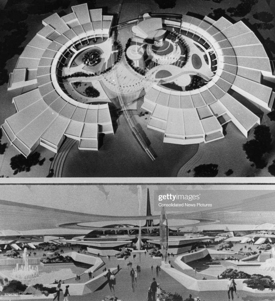 At Buena Vista, Florida, are possible models of World Show Case, planned by Walt Disney for Walt Disney World as his Epcot project.