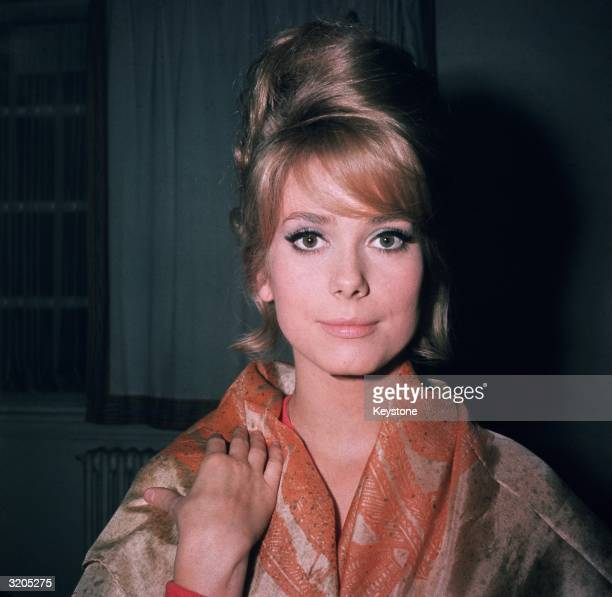 The eighteen year old French film actress Catherine Deneuve