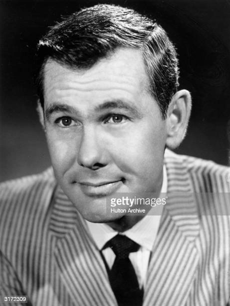 Promotional headshot portrait of American comedian and talk show host Johnny Carson for the talk show 'The Tonight Show Starring Johnny Carson He is...