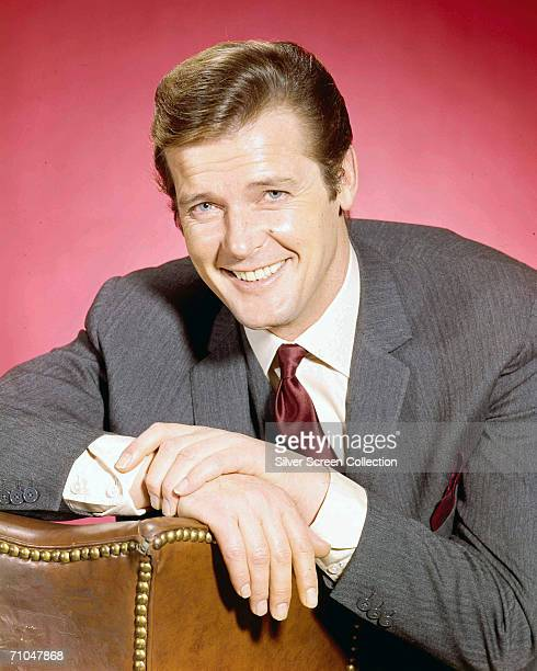 English actor Roger Moore as Simon Templar in the British Television series 'The Saint', based on the novels of Leslie Charteris.