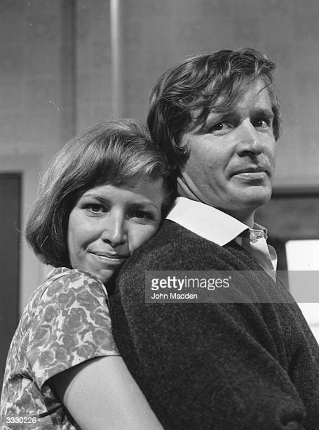 Actors William Roache and Anne Reid who play Ken and Valerie Barlow in the English television soap opera 'Coronation Street'