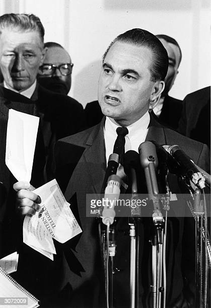 American politician and Governor of Alabama George Wallace He came to public attention with his forceful opposition to desegregation in the south and...
