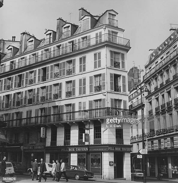Apartments above a bar on the corner of a Paris street