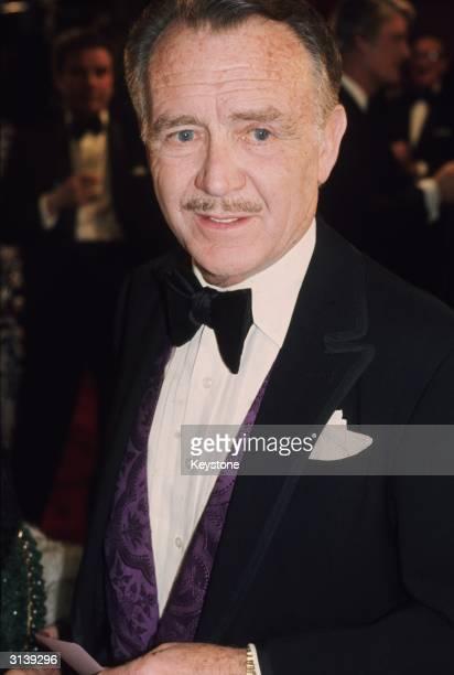 English actor John Mills at a Royal Command film performance