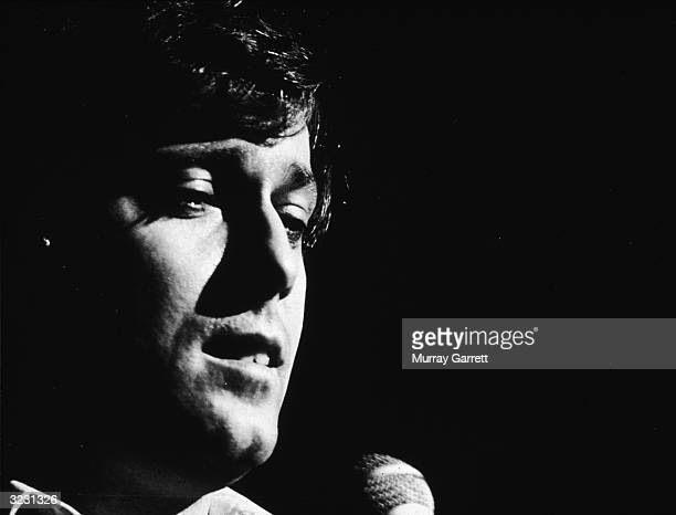 EXCLUSIVE Closeup of American singer Jack Jones performing Los Angeles California
