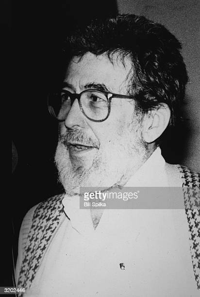 Headshot of American jazz writer and social commentator Nat Hentoff speaking in New York City.