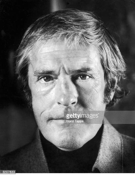 Headshot portrait of acid guru and psychologist Dr Timothy Leary 1960s