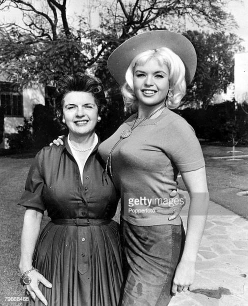 circa 1965 New York Jayne Mansfield the American screen actress who later was killed in a car crash is pictured wearing costume for a western