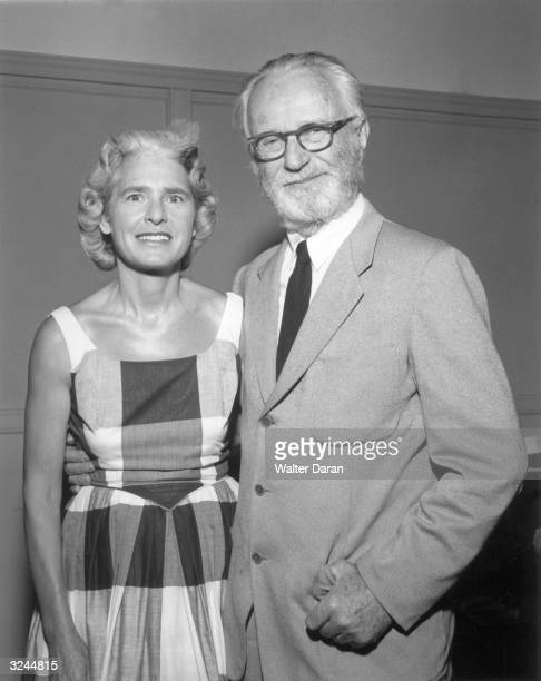 Portrait of American photographer Margaret BourkeWhite and Luxembourgborn photographer artist and curator Edward Steichen BourkeWhite was the first...