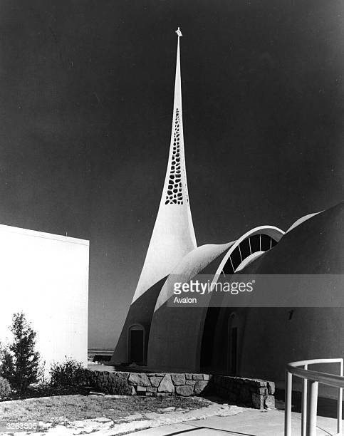 Spire of Lutheran church designed by William Henry Ryan at Broken Arrow Oklahoma
