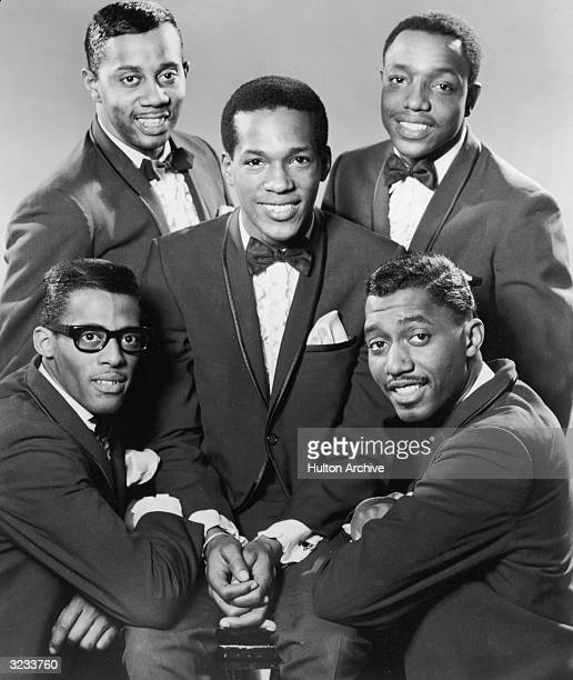 Tamla Motown soul vocal group The Temptations Left to right David Ruffin Melvin Franklin Eddie Kendricks Paul Williams and Otis Williams