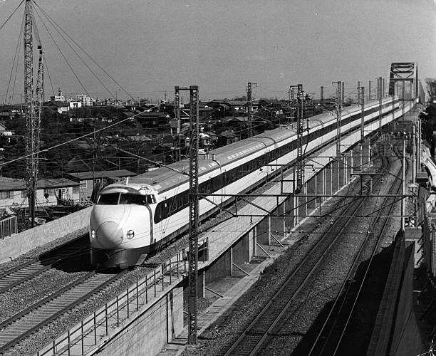 The departure of the Hikari train which operates between...