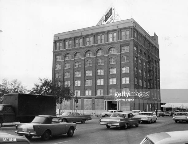 The Texas School Book Depository at Dallas Texas from which US president John F Kennedy was shot and killed