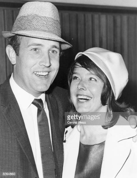 Actor Ian Hendry and his actress wife Janet Munro