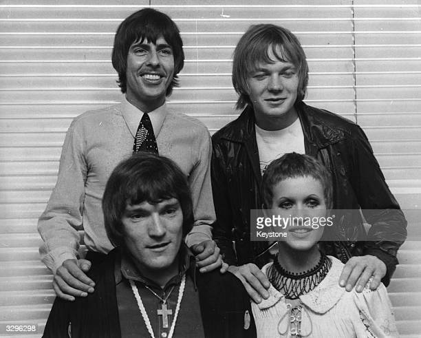 Jazz rock organist Brian Auger front left and his group Trinity including singer Julie Driscoll