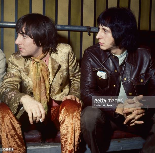 Keith Moon and John Entwistle of British rock band The Who at Internel Studios in Stonebridge Park Wembley where the Rolling Stones are shooting a TV...