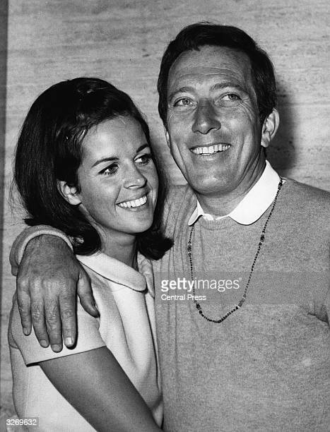 Popular American crooner Andy Williams shares an affectionate moment with Claudine Longet