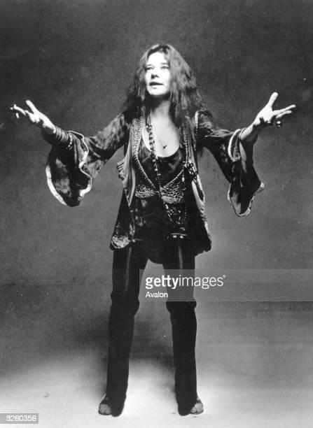 American bluesrock singer Janis Joplin