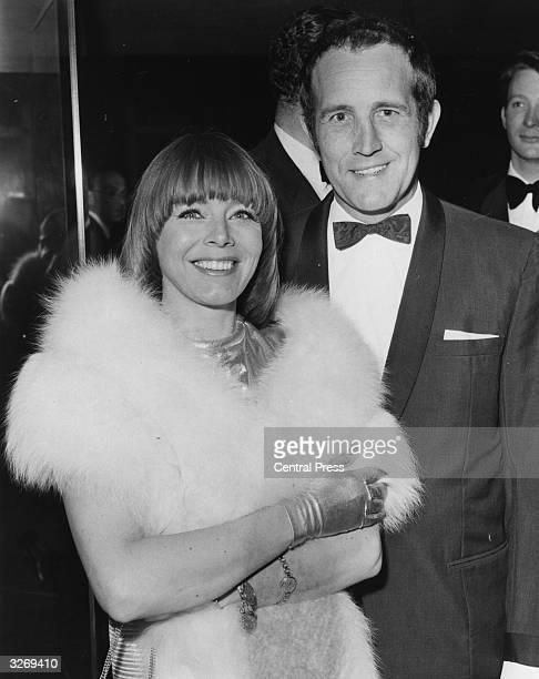English actor Ian Hendry with his actress wife Janet Munro