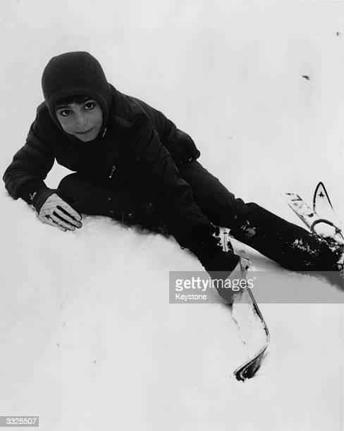 Prince Reza elder son of Mohammad Reza Pahlavi Shah of Persia during a skiing holiday at St Moritz