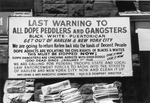 A warning sign to drug dealers, users, and gang members,...