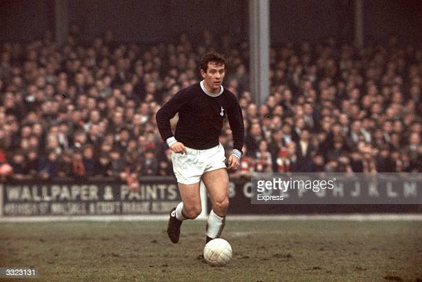 Alan Mullery playing for Tottenham Hotspur Football Club