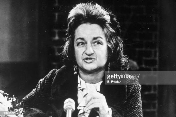 American feminist and author Betty Friedan a founder member of NOW and the author of 'The Feminine Mystique'