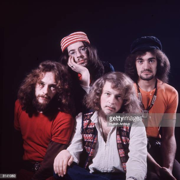 British folk group Jethro Tull led by flautist guitarist singer and songwriter Ian Anderson