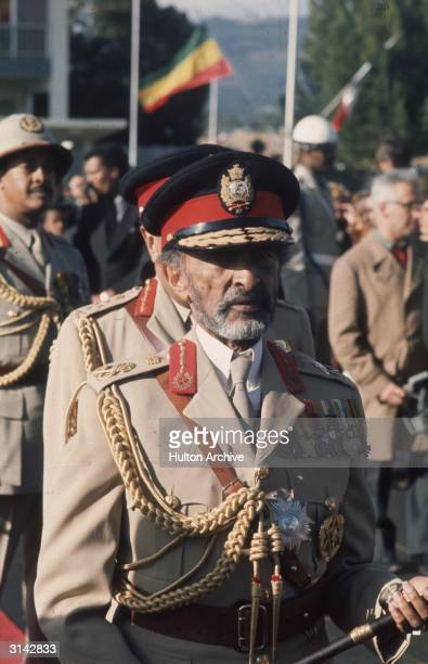 Emperor of Ethiopia Haile Selassie in military uniform Known as Prince Ras Tafari before his accession in 1930 His titles include 'King of Kings...