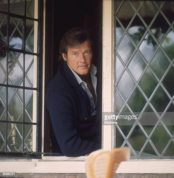 English film star Roger Moore best known for his roles as James Bond and The Saint