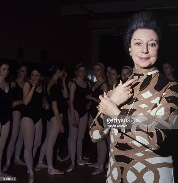 Ex-ballerina Dame Alicia Markova who has taken up a teaching post at the age of 63 at the Royal Ballet School in London.