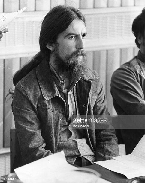 ExBeatles member George Harrison at a press conference to publicise a festival of Indian music and arts at the Royal Festival Hall London The event...