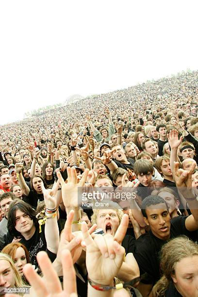 UNSPECIFIED circa 1970 Photo of FANS and ROCK FANS and DONNINGTON and HEAVY METAL Download Festival