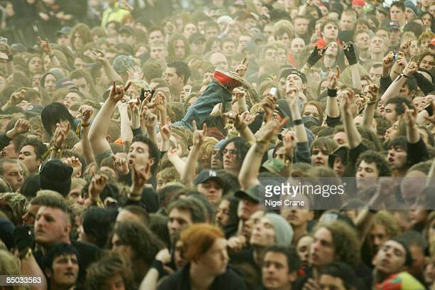 UNSPECIFIED circa 1970 Photo of HEAVY METAL and ROCK FANS and DONNINGTON and FANS Download Festival